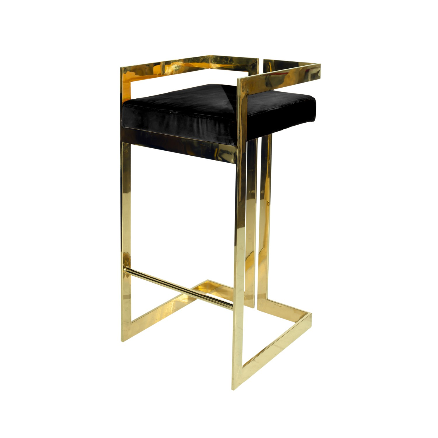 Amelia Bar Stool – Black & Gold – Innovative Home Solutions
