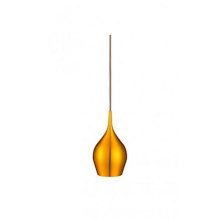 VIBRANT contemporary single gold finished metal pendant