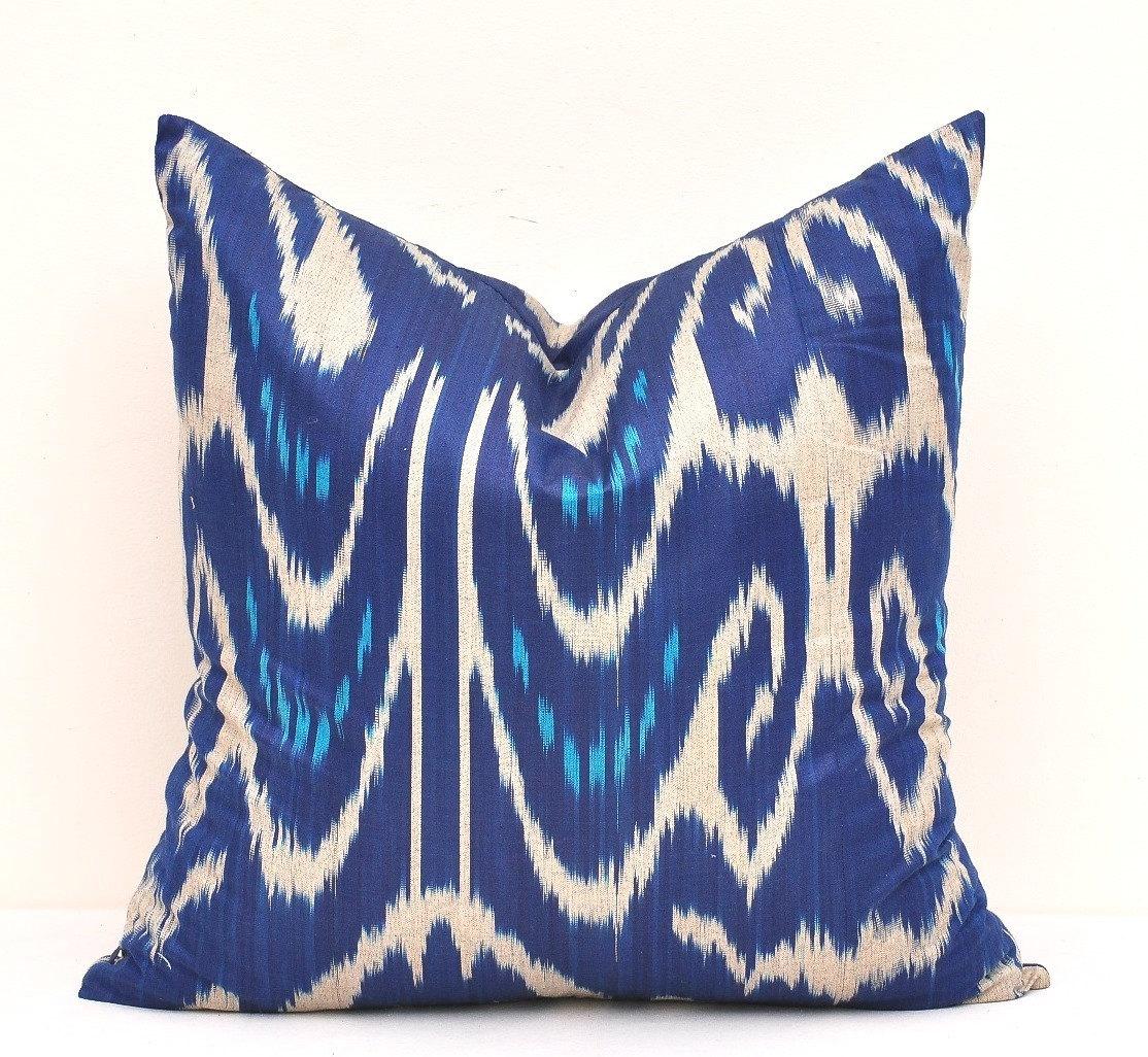 Blue Ikat Cushion Innovative Home Solutions