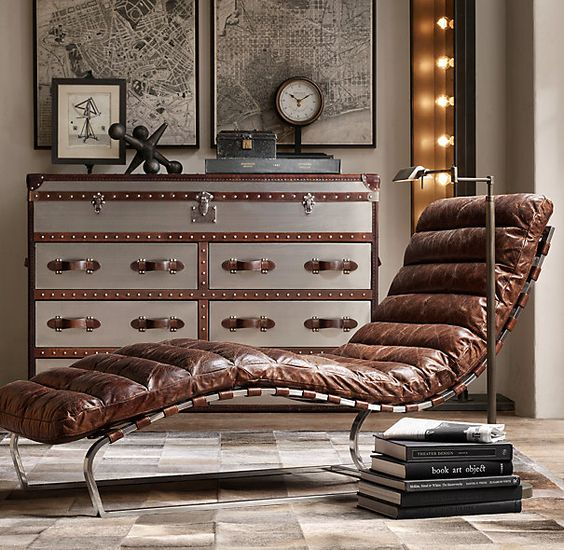 1960 s style leather chaise innovative home solutions for Chaise interiors inc