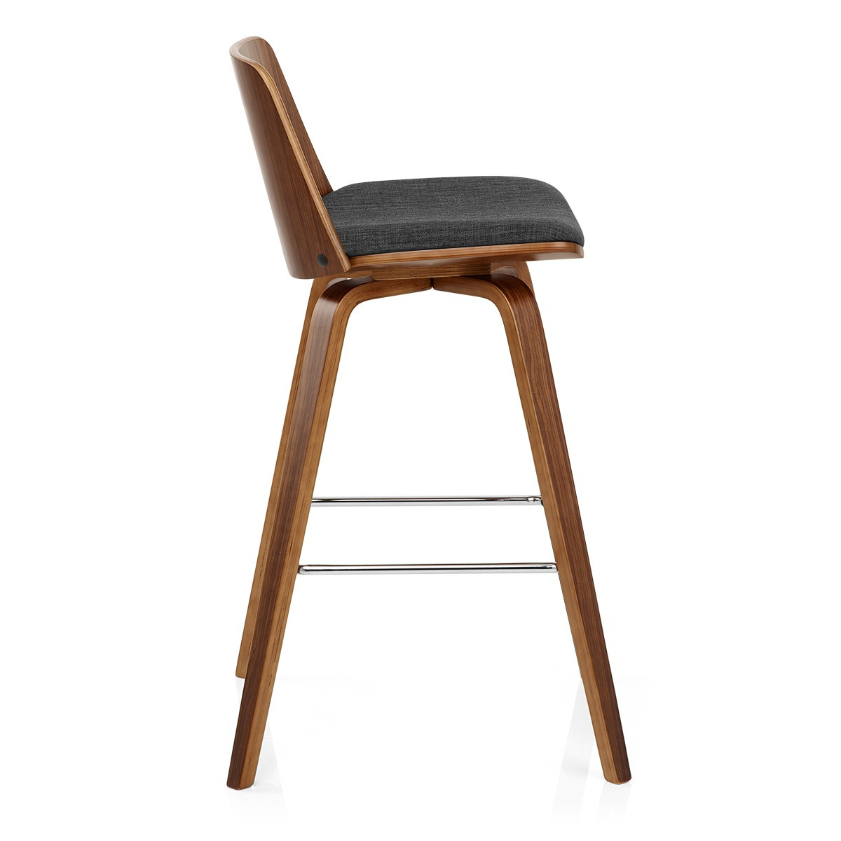 Maddox Barstool Wood With Charcoal Fabric Innovative
