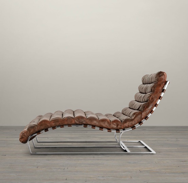 1960 S Style Leather Chaise Innovative Home Solutions
