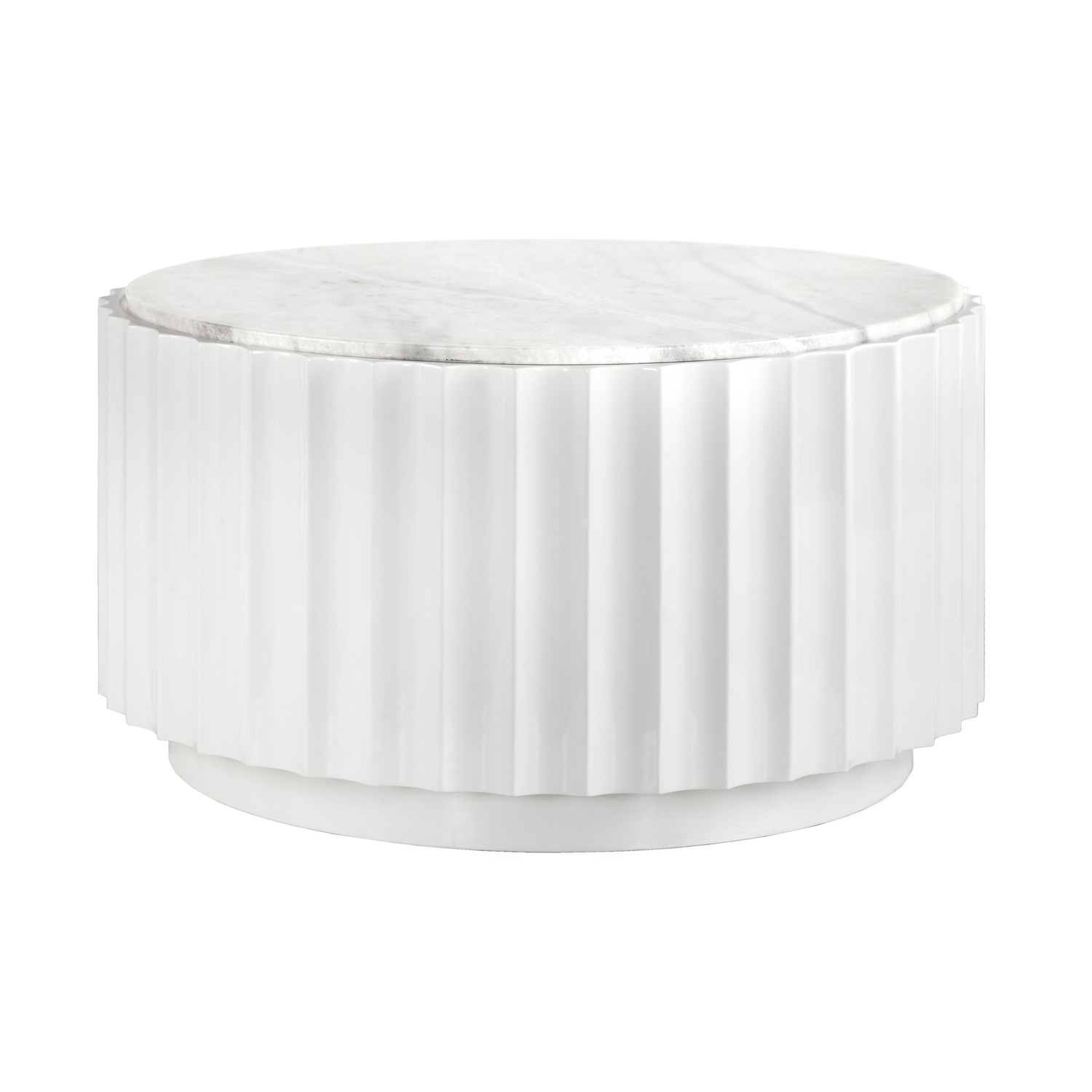 Clove White Round Coffee Table With White Marble Top Innovative